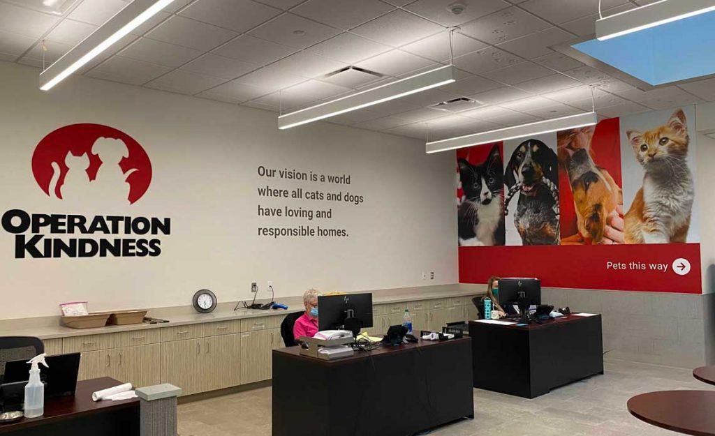 Operation Kindness Blog | MoWax Visual Donates New Adoption Lobby Design | Operation Kindness No-kill Animal Shelter