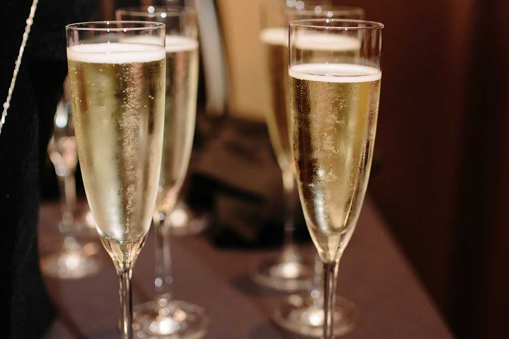 Champagne glasses at Operation Kindness' fundraising event the Hope Gala | No-Kill Animal Shelter and Animal Adoptions