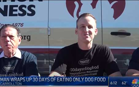Operation Kindness Newsroom - Muenster Milling finishes dog food challenge at Operation Kindness | North Texas No-Kill Animal Shelter