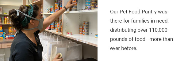 Our pet food pantry distributed a record-breaking amount of food in 2020 | Operation Kindness No-kill Shelter