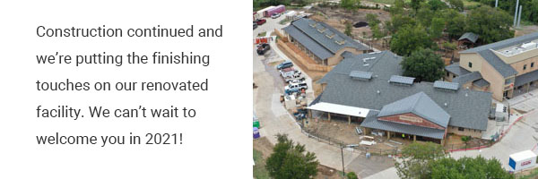 Construction continued and we can't wait to welcome you in 2021 | Operation Kindness No-kill Shelter