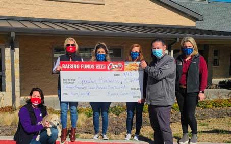 Newsroom | Raising Cane's Raises Over $13,000 for Operation Kindness | Operation Kindness North Texas No-Kill Animal Shelter