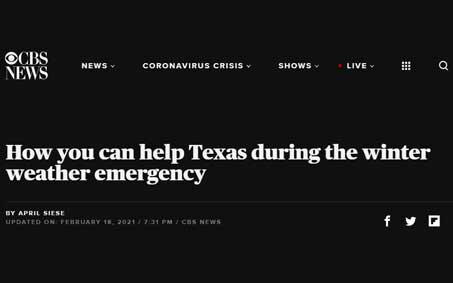 Newsroom | How you can help Texas during the winter weather emergency | Operation Kindness North Texas No-Kill Animal Shelter