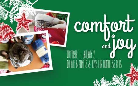 Newsroom | Comfort and Joy Donation Drive | Operation Kindness North Texas No-Kill Animal Shelter