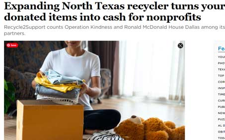Newsroom | Expanding North Texas recycler turns your donated items into cash for nonprofits | Operation Kindness North Texas No-Kill Animal Shelter