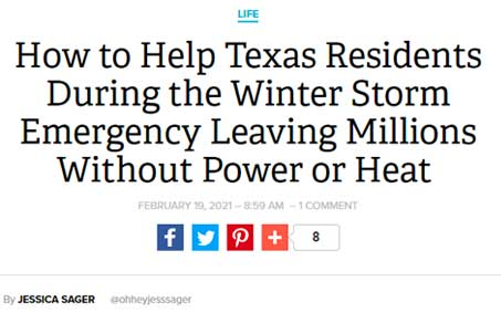 How to Help Texas Residents During the Winter Storm Emergency Leaving Millions Without Power or Heat | Operation Kindness North Texas No-Kill Animal Shelter