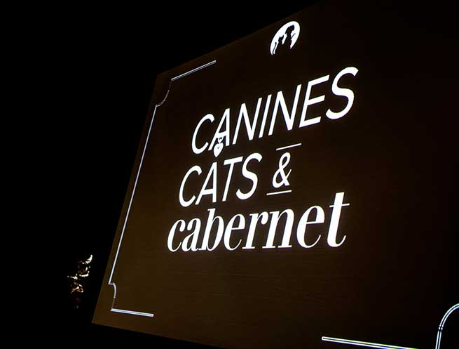 Operation Kindness' fundraising event Canines, Cats and Cabernet Logo supporting homeless animal | No-Kill Animal Shelter and Animal Adoptions
